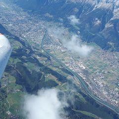 Flugwegposition um 12:28:01: Aufgenommen in der Nähe von Gemeinde Tulfes, Österreich in 3946 Meter