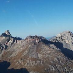 Flugwegposition um 14:04:55: Aufgenommen in der Nähe von Gemeinde Pettneu am Arlberg, Österreich in 2672 Meter