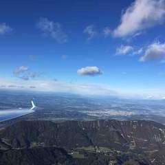 Flugwegposition um 13:55:01: Aufgenommen in der Nähe von Gemeinde Ferlach, Ferlach, Österreich in 2296 Meter