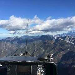 Flugwegposition um 13:54:44: Aufgenommen in der Nähe von Gemeinde Ferlach, Ferlach, Österreich in 2275 Meter