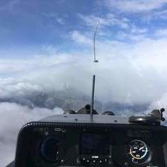 Flugwegposition um 10:01:44: Aufgenommen in der Nähe von Gemeinde Lesachtal, Österreich in 3816 Meter