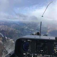 Flugwegposition um 09:36:09: Aufgenommen in der Nähe von Gemeinde Kötschach-Mauthen, Österreich in 2960 Meter