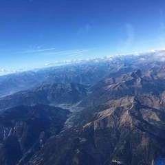 Flugwegposition um 09:17:25: Aufgenommen in der Nähe von 33027 Paularo, Udine, Italien in 4289 Meter