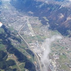 Flugwegposition um 11:51:13: Aufgenommen in der Nähe von Gemeinde Rinn, Rinn, Österreich in 3562 Meter