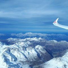 Flugwegposition um 12:23:51: Aufgenommen in der Nähe von Gemeinde St. Sigmund im Sellrain, Österreich in 4500 Meter