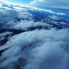Flugwegposition um 13:20:51: Aufgenommen in der Nähe von Gemeinde Flirsch, Österreich in 4603 Meter