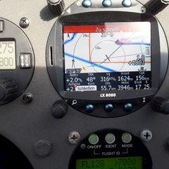 Flugwegposition um 13:26:30: Aufgenommen in der Nähe von Gemeinde Zams, Österreich in 3897 Meter