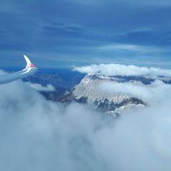 Flugwegposition um 13:34:09: Aufgenommen in der Nähe von Gemeinde Obsteig, Österreich in 3253 Meter