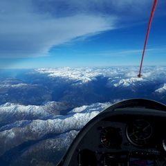 Flugwegposition um 14:06:33: Aufgenommen in der Nähe von Gemeinde Wattenberg, Österreich in 5369 Meter