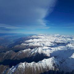 Flugwegposition um 14:16:56: Aufgenommen in der Nähe von Gemeinde Gerlos, 6281 Gerlos, Österreich in 4341 Meter