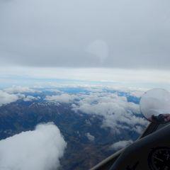 Flugwegposition um 09:55:44: Aufgenommen in der Nähe von Gemeinde Bischofshofen, Bischofshofen, Österreich in 5250 Meter