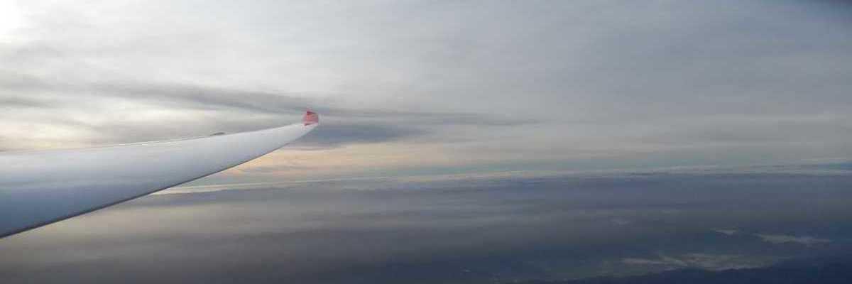 Flugwegposition um 07:17:09: Aufgenommen in der Nähe von Gemeinde Wildalpen, 8924, Österreich in 4743 Meter