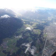 Flugwegposition um 13:41:47: Aufgenommen in der Nähe von Gemeinde Mils, Mils, Österreich in 3924 Meter