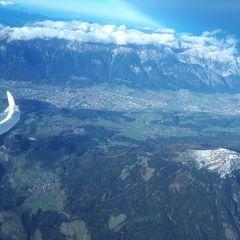 Flugwegposition um 13:56:33: Aufgenommen in der Nähe von Gemeinde Mühlbachl, Österreich in 4507 Meter