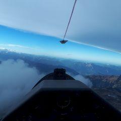 Flugwegposition um 14:39:09: Aufgenommen in der Nähe von Gemeinde Gerlos, 6281 Gerlos, Österreich in 3701 Meter