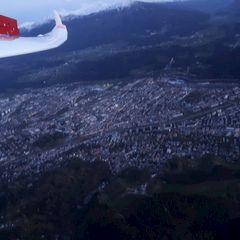 Flugwegposition um 16:10:39: Aufgenommen in der Nähe von Innsbruck, Österreich in 1604 Meter