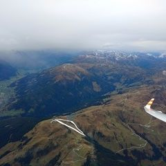 Flugwegposition um 08:41:46: Aufgenommen in der Nähe von Mittersill, Österreich in 3341 Meter