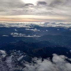 Flugwegposition um 07:26:05: Aufgenommen in der Nähe von Gemeinde Pfarrwerfen, Pfarrwerfen, Österreich in 4622 Meter