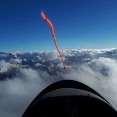 Flugwegposition um 13:51:04: Aufgenommen in der Nähe von Gemeinde Pfons, Österreich in 2990 Meter