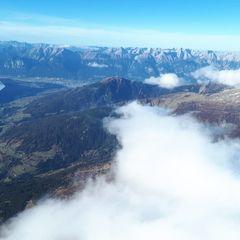 Flugwegposition um 14:14:36: Aufgenommen in der Nähe von Gemeinde Navis, Navis, Österreich in 3401 Meter