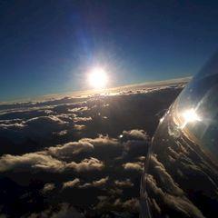 Flugwegposition um 15:17:40: Aufgenommen in der Nähe von Gemeinde Navis, Navis, Österreich in 4162 Meter