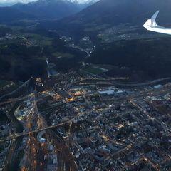 Flugwegposition um 16:05:19: Aufgenommen in der Nähe von Innsbruck, Österreich in 1320 Meter