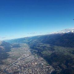 Flugwegposition um 13:14:31: Aufgenommen in der Nähe von Innsbruck, Österreich in 2556 Meter