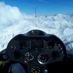 Flugwegposition um 14:57:08: Aufgenommen in der Nähe von Gemeinde Navis, Navis, Österreich in 3069 Meter