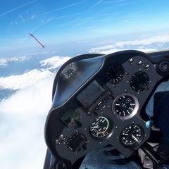 Flugwegposition um 15:03:50: Aufgenommen in der Nähe von Gemeinde Schmirn, 6154, Österreich in 4033 Meter