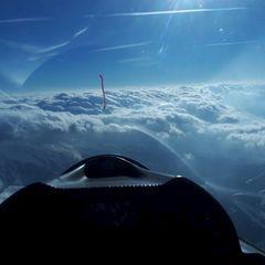 Flugwegposition um 15:10:12: Aufgenommen in der Nähe von Gemeinde Schmirn, 6154, Österreich in 4019 Meter