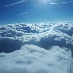 Flugwegposition um 15:15:42: Aufgenommen in der Nähe von Gemeinde Gries am Brenner, Österreich in 3524 Meter