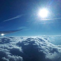Flugwegposition um 15:16:55: Aufgenommen in der Nähe von Gemeinde Gries am Brenner, Österreich in 3445 Meter