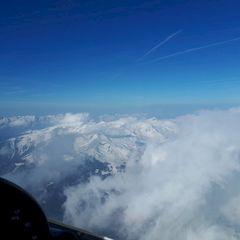 Flugwegposition um 15:17:56: Aufgenommen in der Nähe von Gemeinde Steinach am Brenner, Österreich in 3433 Meter