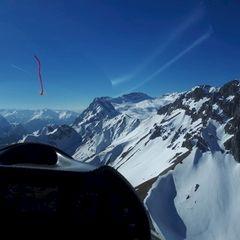 Flugwegposition um 14:29:26: Aufgenommen in der Nähe von Gemeinde Leutasch, Österreich in 2330 Meter