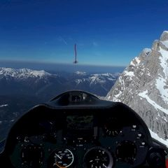 Flugwegposition um 14:39:24: Aufgenommen in der Nähe von Gemeinde Ehrwald, Ehrwald, Österreich in 2538 Meter