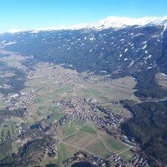 Flugwegposition um 15:07:10: Aufgenommen in der Nähe von Innsbruck, Österreich in 1691 Meter