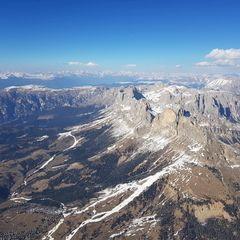 Flugwegposition um 15:36:18: Aufgenommen in der Nähe von 39040 Freienfeld, Bozen, Italien in 2922 Meter