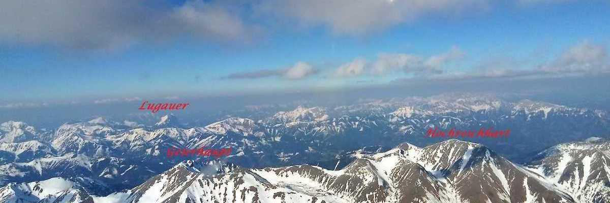 Flugwegposition um 16:01:19: Aufgenommen in der Nähe von Gemeinde Krieglach, Krieglach, Österreich in 2363 Meter