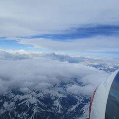 Flugwegposition um 09:44:40: Aufgenommen in der Nähe von Gemeinde Mühlbach am Hochkönig, 5505 Mühlbach am Hochkönig, Österreich in 4914 Meter