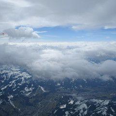Flugwegposition um 09:44:35: Aufgenommen in der Nähe von Gemeinde Mühlbach am Hochkönig, 5505 Mühlbach am Hochkönig, Österreich in 4920 Meter