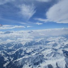 Flugwegposition um 10:10:16: Aufgenommen in der Nähe von Gemeinde St. Johann in Tirol, St. Johann in Tirol, Österreich in 3751 Meter