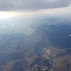 Flugwegposition um 15:12:07: Aufgenommen in der Nähe von Okres Znojmo, Tschechien in 1646 Meter