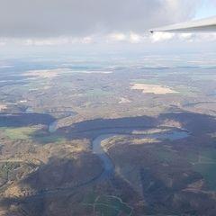 Flugwegposition um 13:59:06: Aufgenommen in der Nähe von Okres Znojmo, Tschechien in 1491 Meter