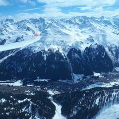 Flugwegposition um 11:31:00: Aufgenommen in der Nähe von Gemeinde St. Anton am Arlberg, 6580 St. Anton am Arlberg, Österreich in 2705 Meter