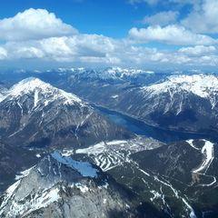 Flugwegposition um 12:38:48: Aufgenommen in der Nähe von Gemeinde Eben am Achensee, Österreich in 2733 Meter