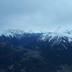 Flugwegposition um 13:28:26: Aufgenommen in der Nähe von Gemeinde Tarrenz, 6464 Tarrenz, Österreich in 2690 Meter