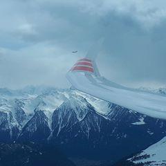 Flugwegposition um 13:33:51: Aufgenommen in der Nähe von Gemeinde Obsteig, Österreich in 2592 Meter