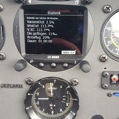 Flugwegposition um 13:36:40: Aufgenommen in der Nähe von Gemeinde Breitenstein, Österreich in 2390 Meter