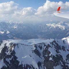 Flugwegposition um 14:18:20: Aufgenommen in der Nähe von Hafning bei Trofaiach, Österreich in 2408 Meter