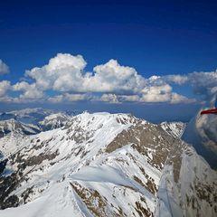 Flugwegposition um 14:42:19: Aufgenommen in der Nähe von Hafning bei Trofaiach, Österreich in 2127 Meter
